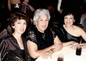 "The ""real"" Evangelina (center).  On the left is my Tía Ida and on the right is my own mother, Belinda."