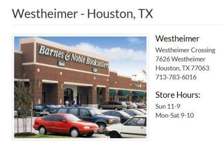 B&N Westheimer Houston