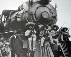 Soldiers on Train
