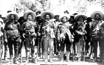 Soliders with Pancho Villa