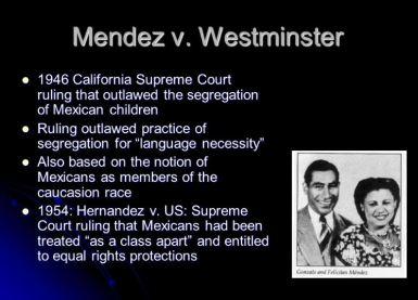 Mendez vs Westminster