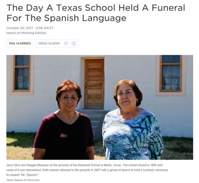 Funeral for the Spanish Language