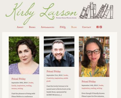 Kirby Larson Blog