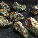 roasted poblanos