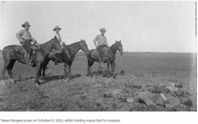 Texas Rangers with Corpses